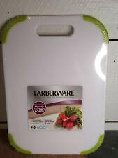 """Farberware Non Slip Cutting Board 14""""x 10"""" x 1/2"""" White and Green"""