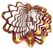WorldaWhirl Whirligig 3D Cardinal Wind Spinner Hand Painted Stainless Twister