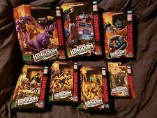 Transformers WFC Kingdom LEADER Class T-REX Beast MEGATRON OPTIMUS LOT OF 7 NEW!