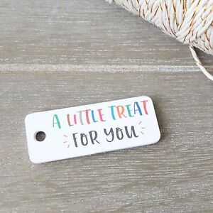 30x Gift Tags Little Treat For You Thank You Tags Wedding Favour Baby Shower Tag