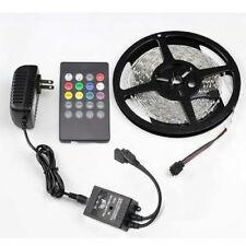 5M 3528 SMD RGB Waterproof 300 LED Strip Light + 20Keys IR Remote + 12V/2A Power