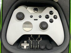 Custom Soft Touch White Face Microsoft Xbox One Black Elite Wireless Controller