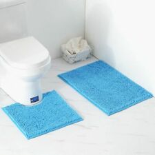 Doormat Bathroom Anti-Slip Carpet Eco-Friendly Machine Made Microfiber Solid Mat