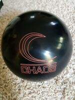 "Columbia Chaos Black 1st Quality Bowling Ball | 15 Pounds | 4-5"" Pin | 3.25oz TW"