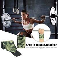1 Pair Camouflage Wrist Support Brace Fitness Wristbands Crossfit Protection