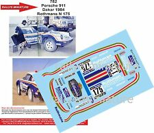 DÉCALS 1/43 réf 782 Porsche 911 Ickx Dakar 1984 Rothmans N 175