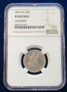 1875CC TWENTY CENTS NGC XF DETAILS (cleaned)