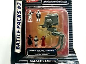 1995 Star Wars Action Fleet Battle Packs #2 Galactic Empire, AT-ST, Sealed MISB