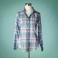 Theory Small Size S Top Nikala Audrey Plaid Check Cotton Button Down Career Work