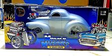 Muscle Machine '41 WILLYS COUPE Silver SUPERCHARGED 1:18 Scale UNOPENED