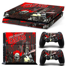 PS4 Playstation 4 Console Skins Set Decal Sticker The Walking Dead Custom Design