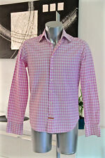 bonito camisa rosa/blanco NODUS talla 39 15 1/2 slim fit como nuevo