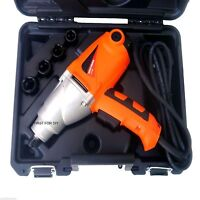 """HEAVY DUTY 1010W 240V 1/2"""" DR ELECTRIC IMPACT WRENCH IN CASE & SOCKETS 17-22MM"""