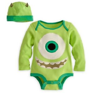 MIKE WAZOWSKI~BODYSUIT+CAP~Baby~Infant 0-2 yrs~Disney Store~Monsters University