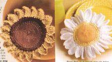 FLOWER SCRUBBIES SUNFLOWER DAISY DIGEST SIZE CROCHET PATTERN INSTRUCTIONS