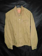 Levi's XXL 2X Mens Brown Denim Chore Coat Barn Jacket Corduroy Collar Cotton