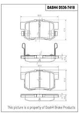 Dash 4 Brake CD536 Rear Ceramic Brake Pads