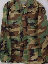 BDU SHIRT ( MEDIUM - REGULAR ) WINTER ARMY WOODLAND CAMOUFLAGE COAT USGI
