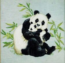 PANDAS Bamboo Bears Counted Cross Stich Kit Ken Lilly Nature's Window DFTN