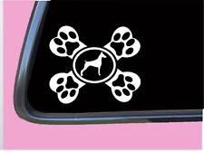 Doberman Crossbone Tp 646 dog Decal 6 inch Sticker dog schutzhund pinscher