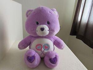 "Giant Big Care Bears SHARE BEAR 24"" Love Lollipop Purple Plush Stuffed Animal"