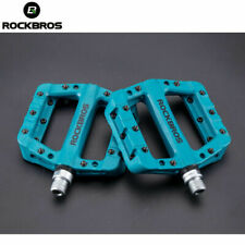 ROCKBROS Cycling MTB Wide Flat Pedals Sealed Bearing Bicycle Nylon Pedals blue