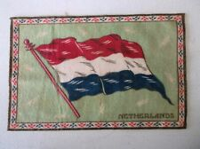 New listing 1910-15 Netherlands Tobacco Felt Flannel Blanket Country Flag A