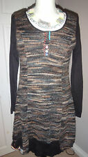 Gorgeous Soggo Paris Designer Dress Very Boho Size S / M