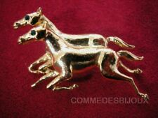 "Broche ""Cheval"" Double N° 1 Steeple Chase Course - Bijoux Bestiaire Cadeau"