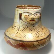 Shamanistic Shaman Pottery Effigy Vessel Amazonian Indian Shipibo-Conibo Antique