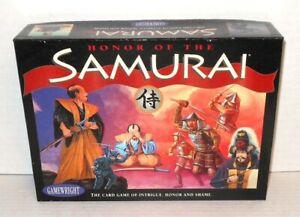 Boxed BOARD WAR GAME Honor of the Samurai Verified Complete op 1996 Gamewright