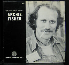 Archie Fisher - The Man With A Rhyme ‎LP Mint- FSS-61 1976 w/Book Vinyl Record