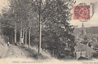 BERNAY sentier descendant des monts timbrée 1906