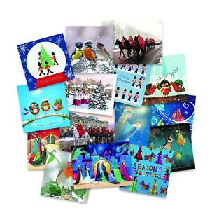 SSAFA Bumper Box of Christmas Cards with envelopes Assorted Designs 51 Packs
