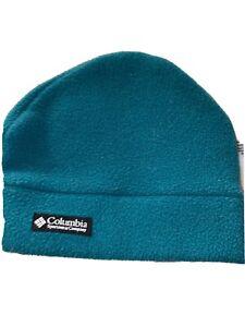 COLUMBIA SPORTSWEAR COMPANY Beanie Fleece  VINTAGE YXL Sewn Logo Emerald Green