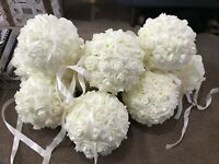 FOAM ROSE KISSING BALL 20CM 4 COLOURS DIAMETER WEDDING DECOR EVENTS CENTREPIECE