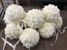 FOAM ROSE KISSING BALL 20CM 4 COLOURS DIAMETER WEDDING DECOR EVENTS CENTREPIECE