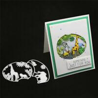 Stanzschablone Löwe Wald Elefant Zoo Weihnachts Hochzeit Geburtstag Karte Album