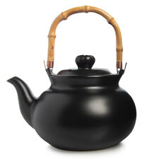 New listing Joyce Chen 2qt Stovetop Ceramic Tea Kettle Bamboo Handle For Home Kitchen