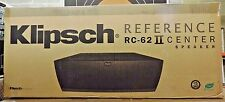 "Klipsch RC-62 II dual 6.5"" 3-driver Center Channel Speaker AUTHORIZED-DEALER"
