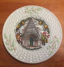 Belleek fine parian china  Christmas Plate Ltd Ed 2nd plate Ringing Holiday