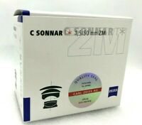 New Carl ZEISS C SONNAR T* 50mm f1.5 ZM Mount Lens - SILVER
