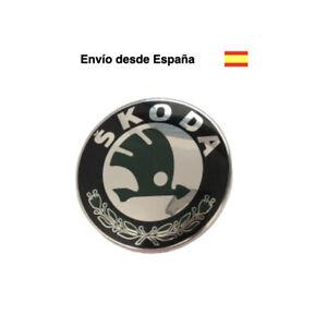 Logo 90 mm emblema valido para Skoda Fabia, Octavia, Yeti, Superb insignia chapa