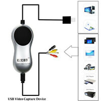 EzCAP USB Video Audio Capture Card TV VHS DVD Recorder Windows 10/8/7 HD Video