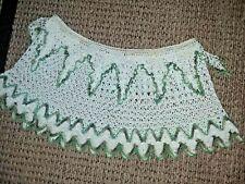 "Rare Crocheted DrawString Lamp Shade Cover Top 36"" or Less 13"" Long Bottom 60"""