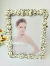 Rhinestone Peals Picture Frame Nursery Décor 5x7 Picture Frame Wedding Gift