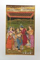 Indian  Mughal Badshah Massive Harem Painting Handmade Miniature Art #7218