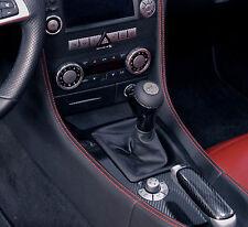 Black Leather Gear Shift Gaiter Cover Sleeve fit Mercedes SLK R171 2004 ->