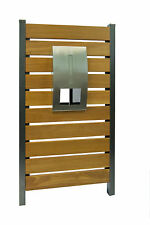 MAIL LETTER STAINLESS MODENA TIMBER PANEL LETTERBOX