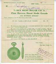 1915 Advertising Flier Key West Segar Co Havana Cigars with Pocket Watch Design